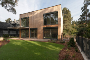 Wooden cube-like family house in Vilnius by Aketuri Architektai