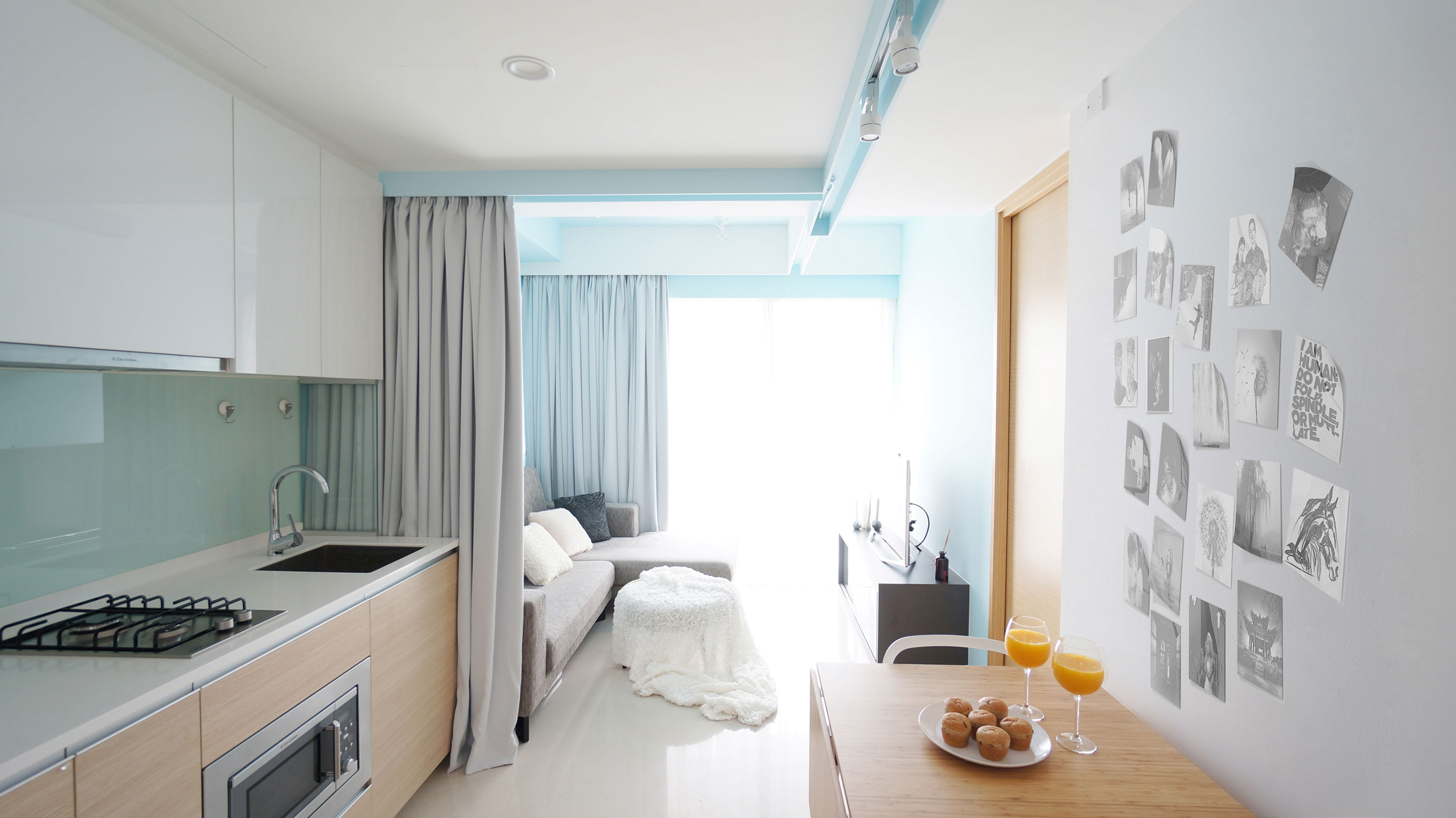 Small Apartment Design Singapore small apartment in downtown singaporehue d | homedezen