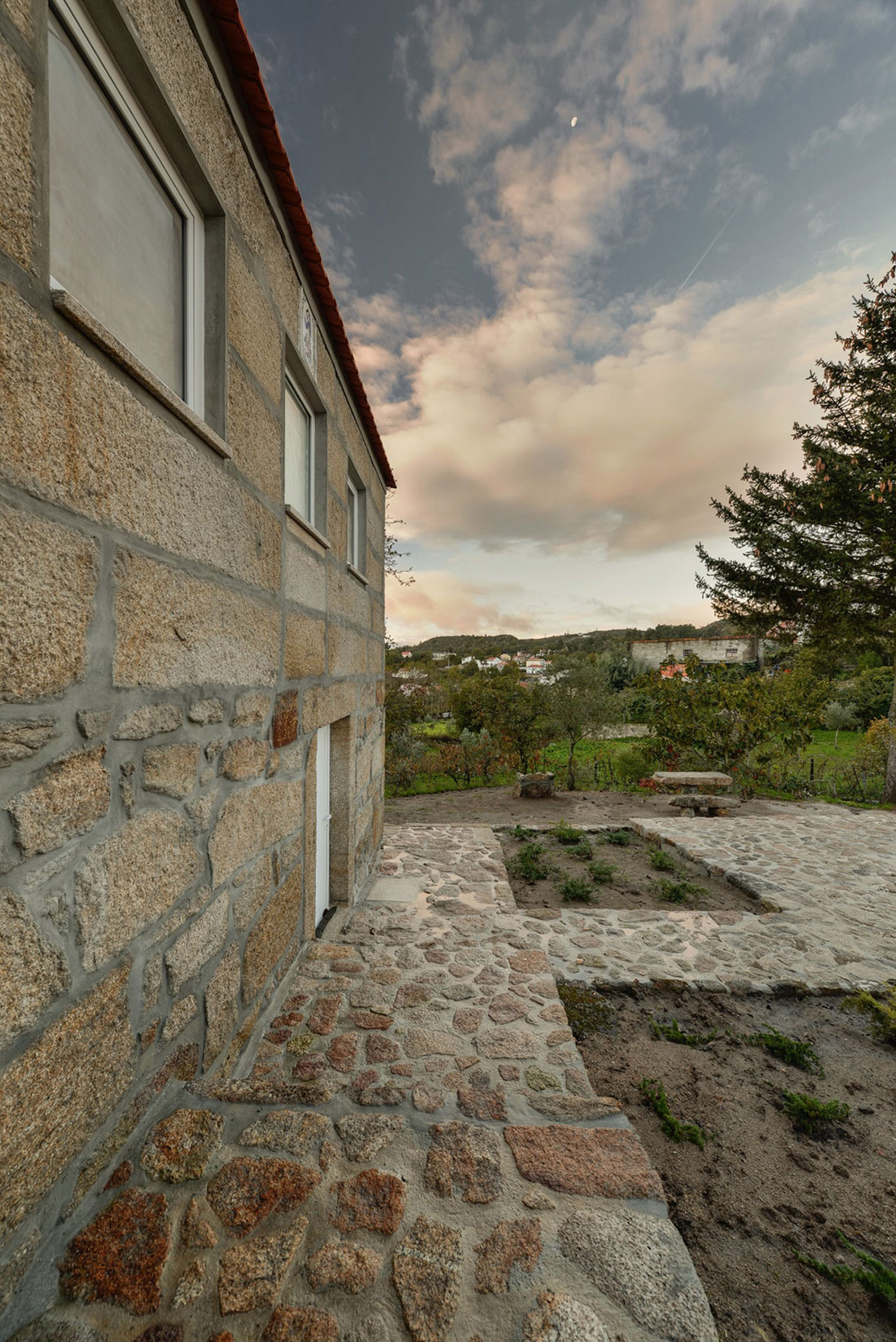 Wood Structure Inside Stone Walls By Corpo Atelier Homedezen